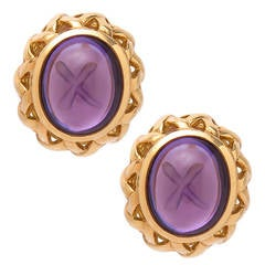 Tiffany & Company Paloma Picasso Gold and Amethyst Earrings
