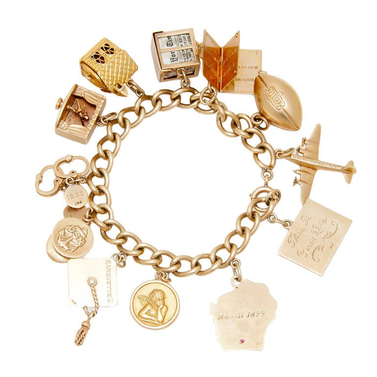 jewelry television shows television show presented gold charm bracelet at 1stdibs 5761