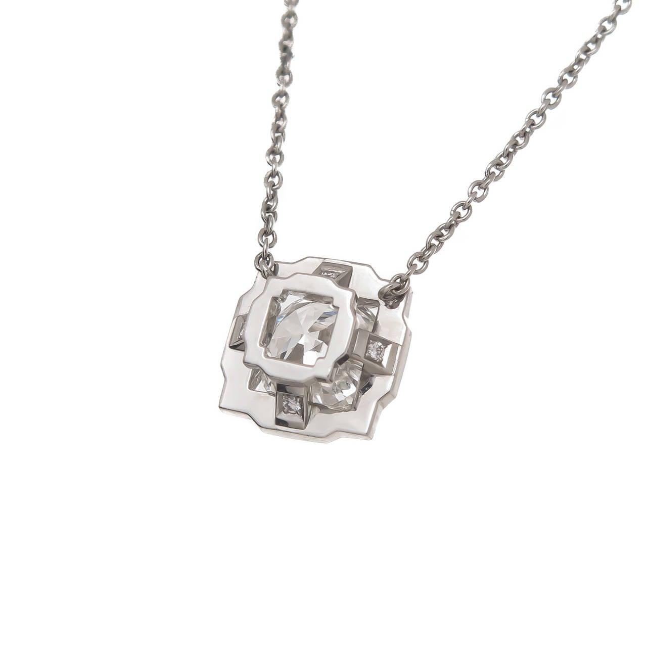 harry winston platinum solitaire pendant necklace