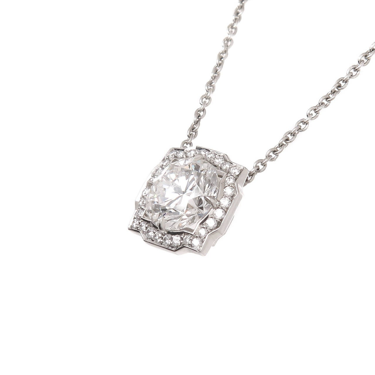 Harry winston diamond platinum solitaire pendant necklace at 1stdibs harry winston diamond platinum solitaire pendant necklace in as new condition for sale in chicago aloadofball Images
