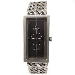 Omega Sterling Silver DeVille Wristwatch