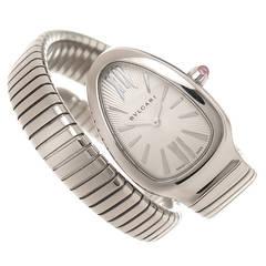 Bulgari Stainless steel Serpenti Quartz wristwatch