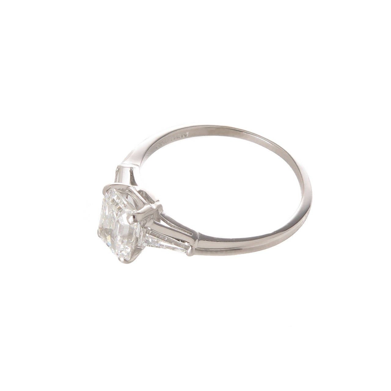 1950s Cartier Diamond Platinum Engagement ring at 1stdibs