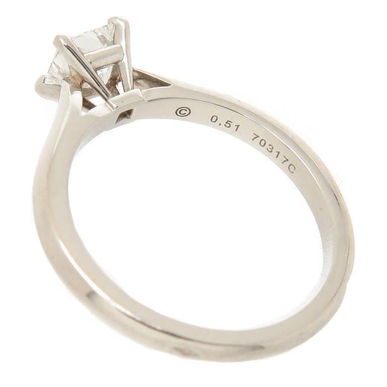 cartier platinum engagement ring at 1stdibs