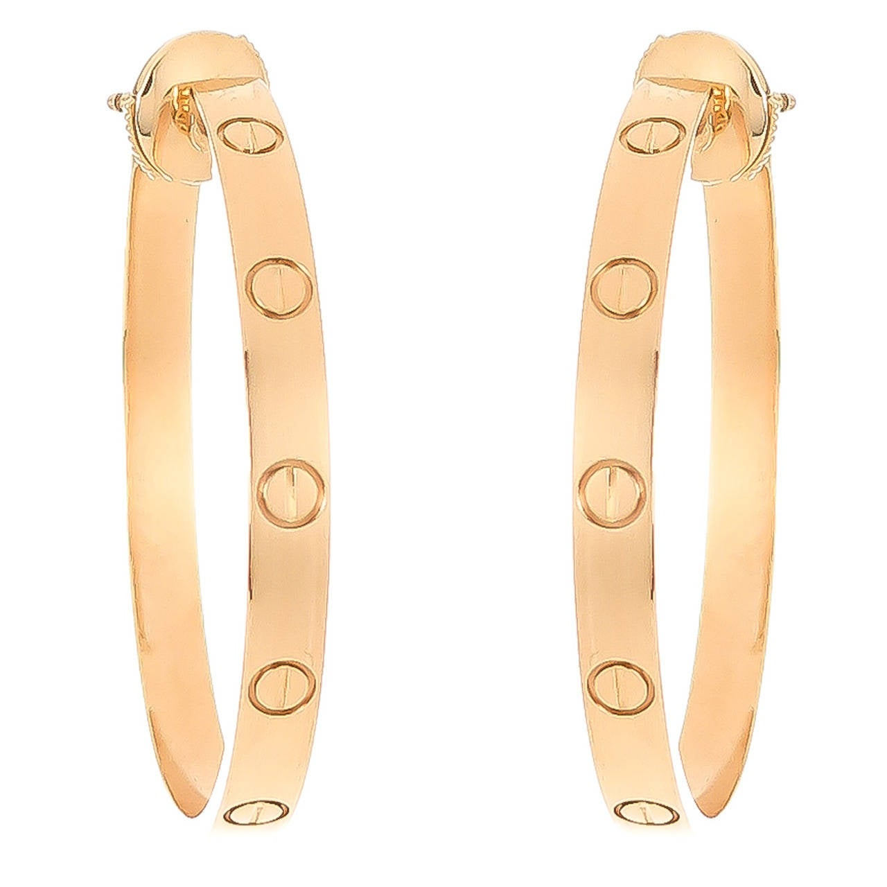 Cartier Yellow Gold Love Hoop Earrings 1