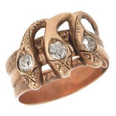 Diamond Gold Snake Ring