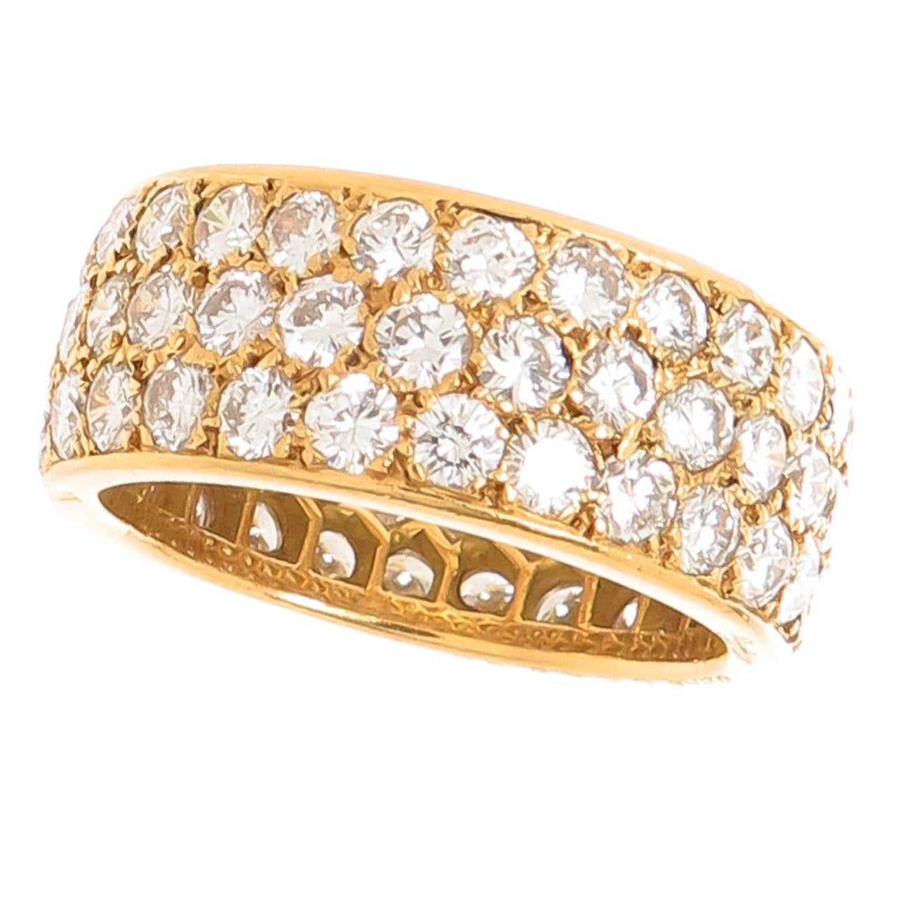 cartier wide pave band ring at 1stdibs