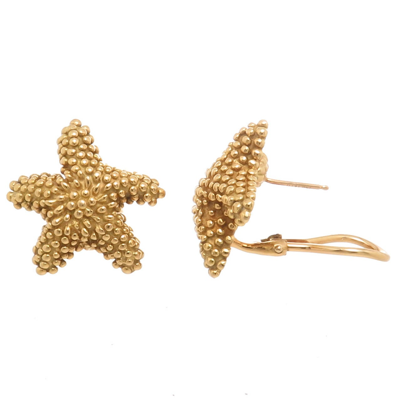 and co yellow gold starfish earrings at 1stdibs
