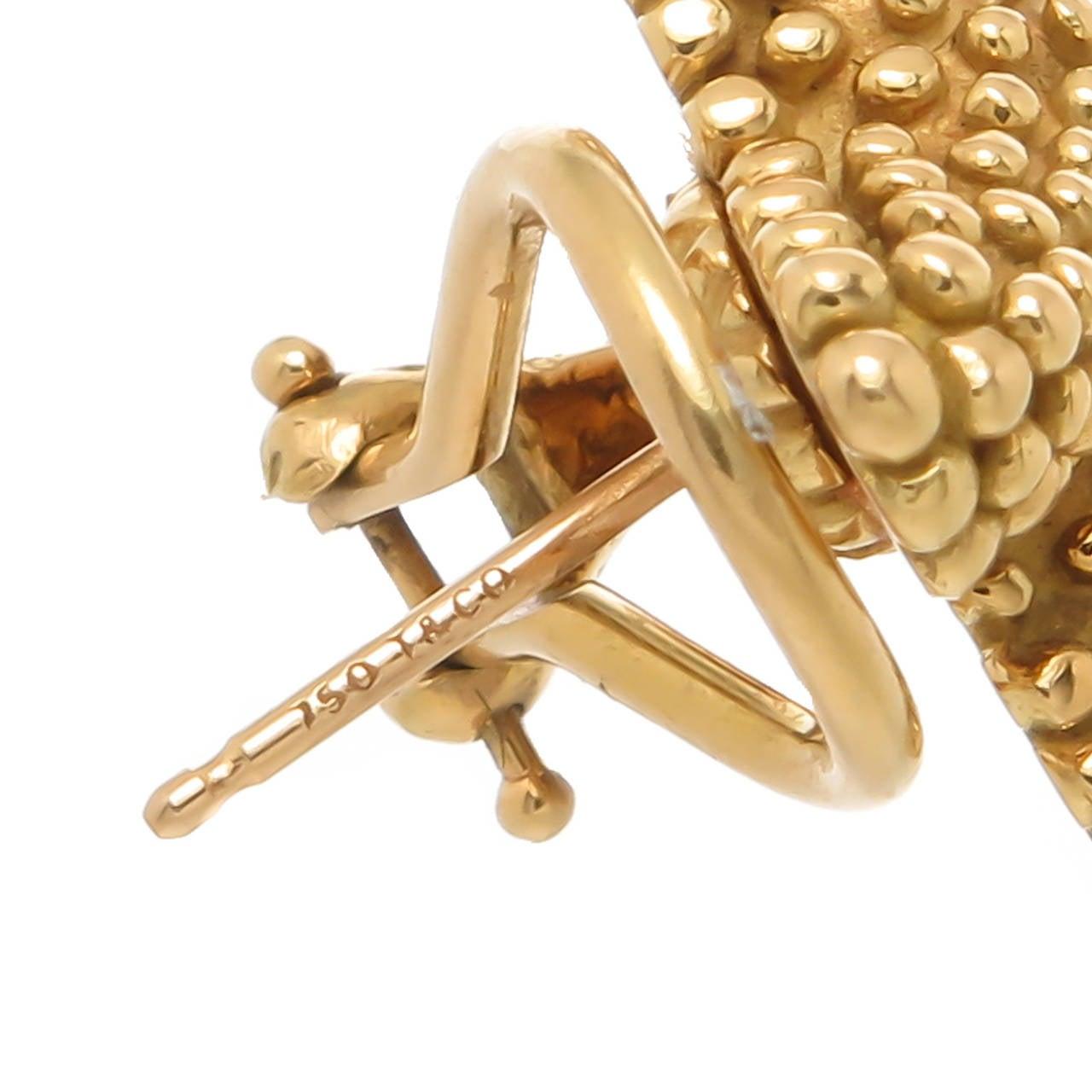 Tiffany & Co. Yellow Gold Starfish Earrings 3