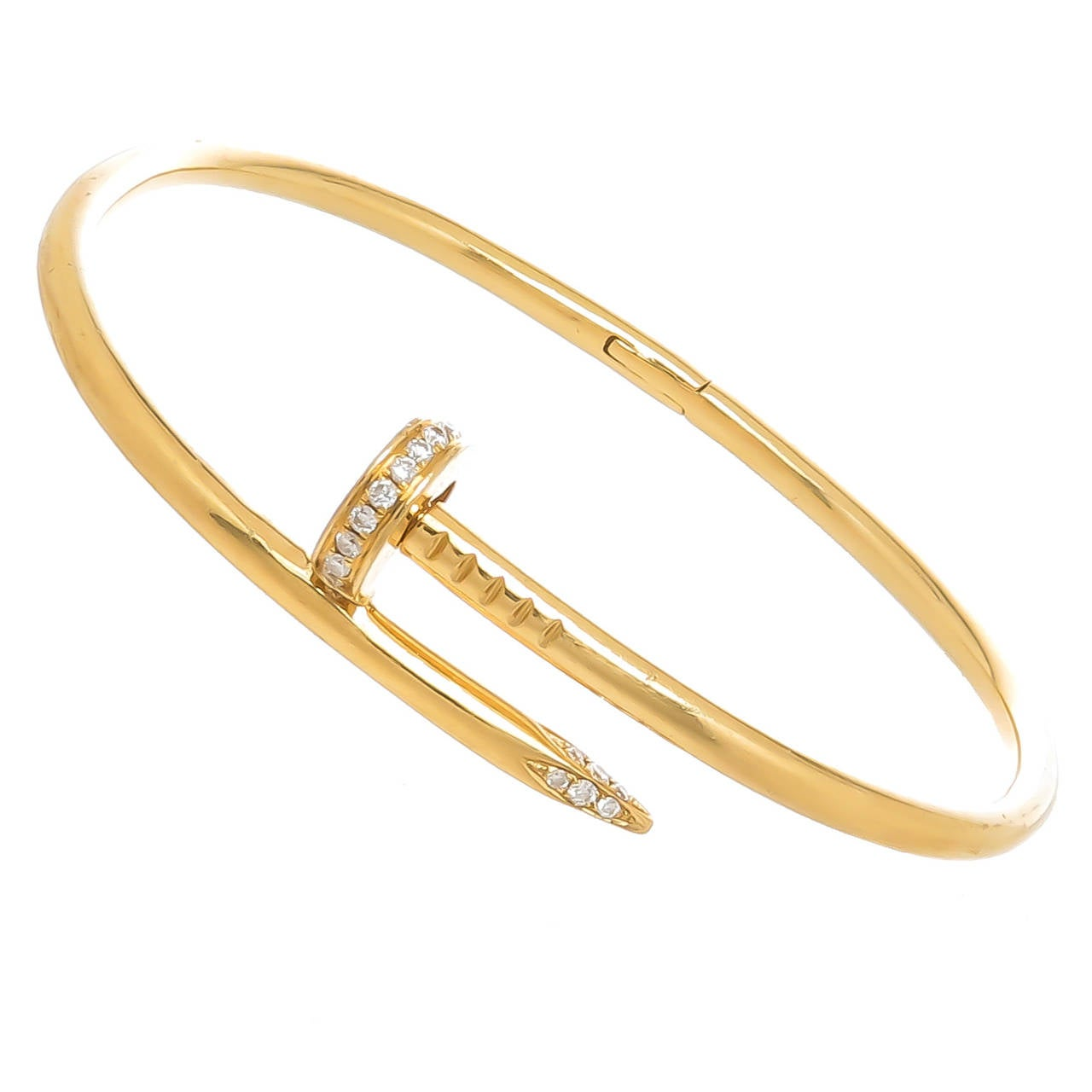 Cartier Juste Un Clou Diamond Gold Nail Bracelet For