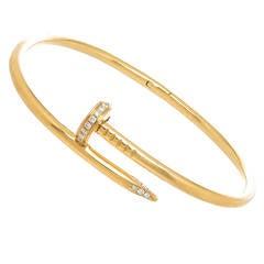 Cartier Juste Un Clou Diamond Gold Nail Bracelet