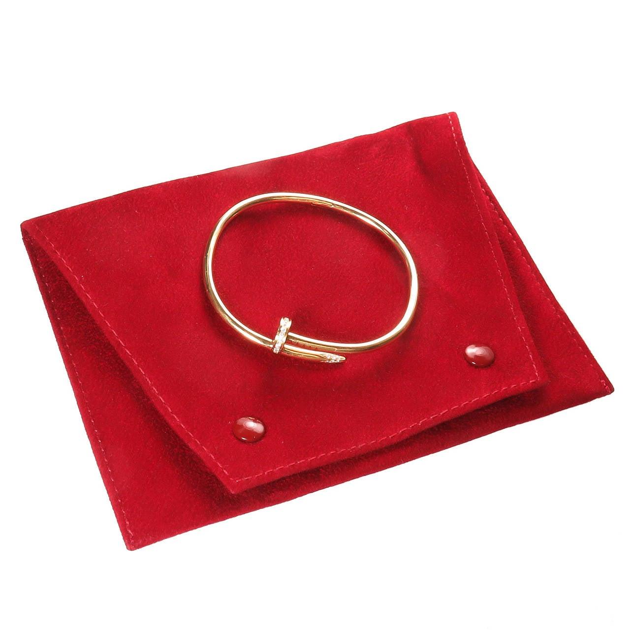 Cartier Juste Un Clou Diamond Gold Nail Bracelet 4