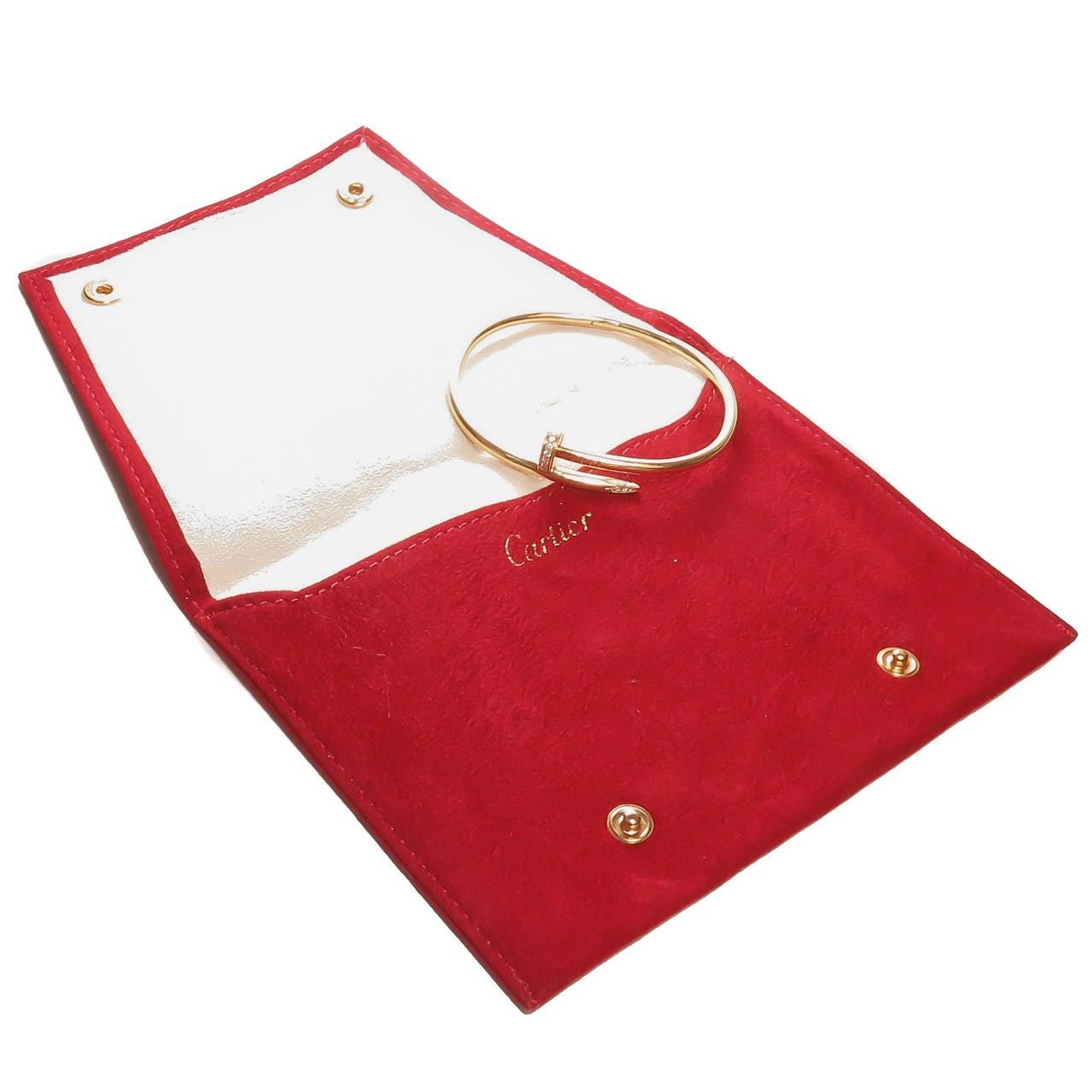 Cartier Juste Un Clou Diamond Gold Nail Bracelet 5