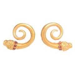 Zolotas Yellow Gold Chimera Earrings