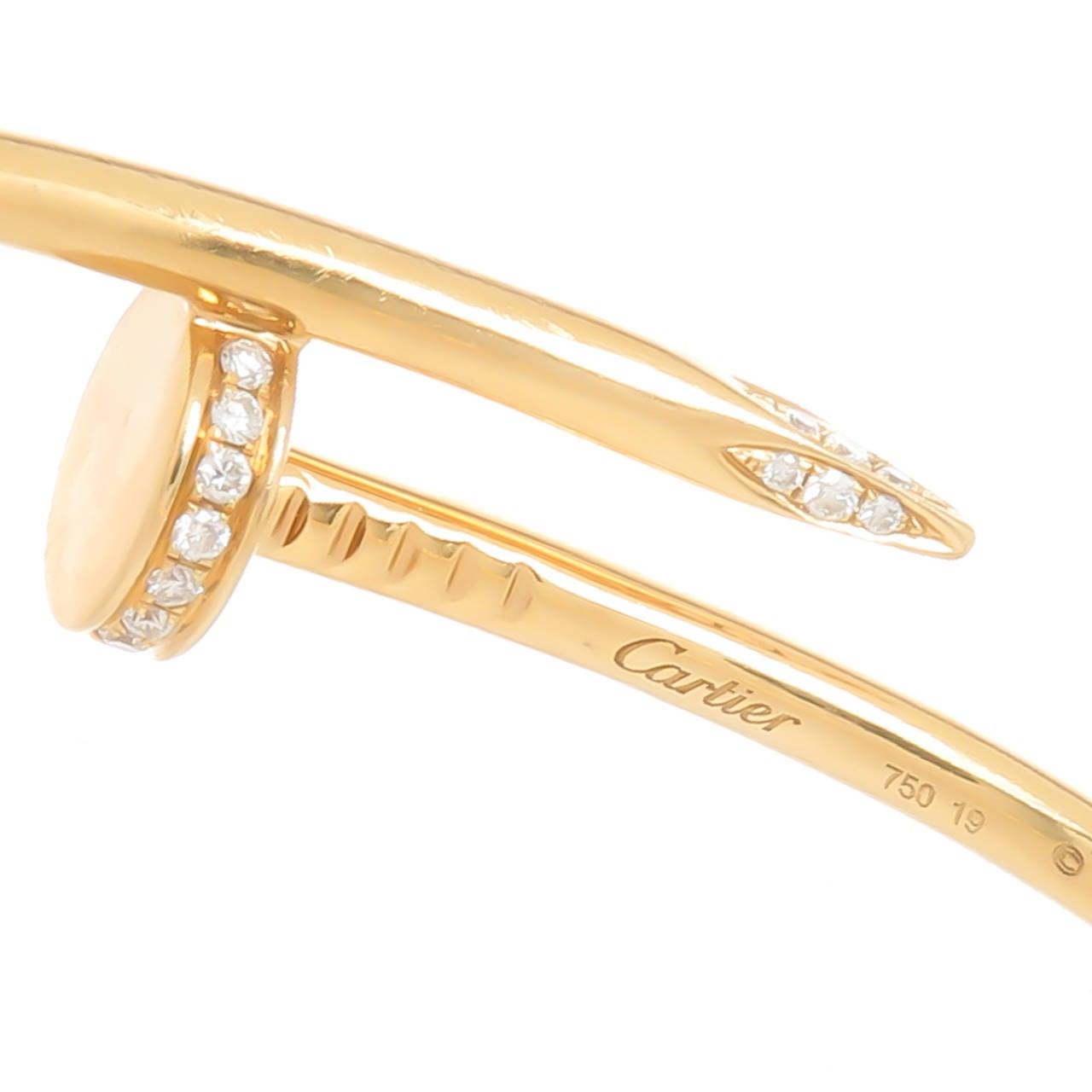 Cartier Juste Un Clou Diamond Gold Nail Bracelet 6