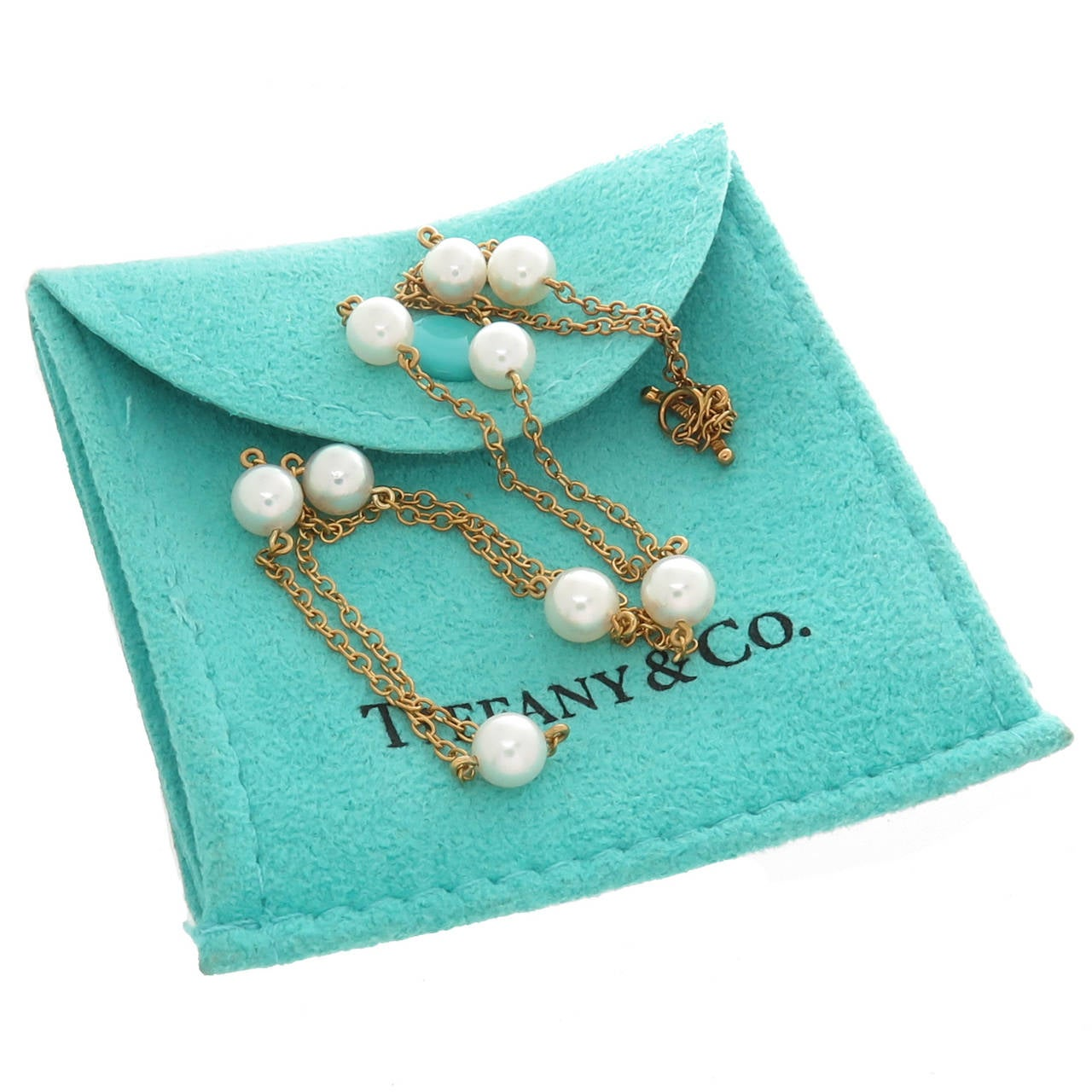 Tiffany And Co Elsa Peretti Pearls By The Yard Necklace