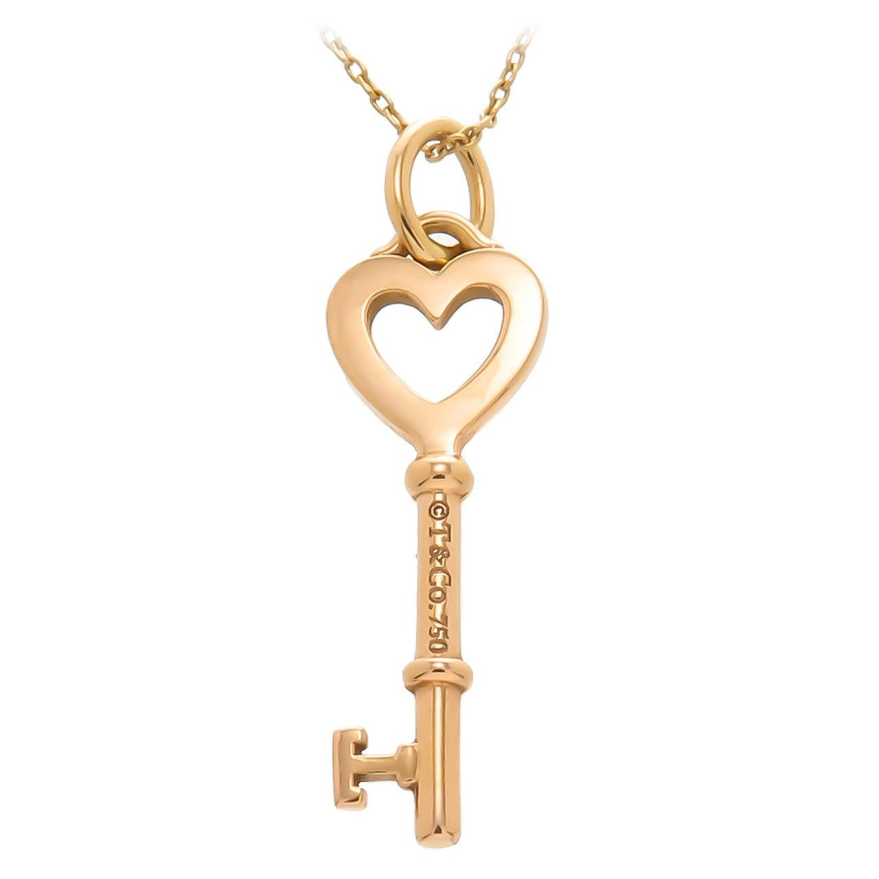 and co gold key pendant at 1stdibs