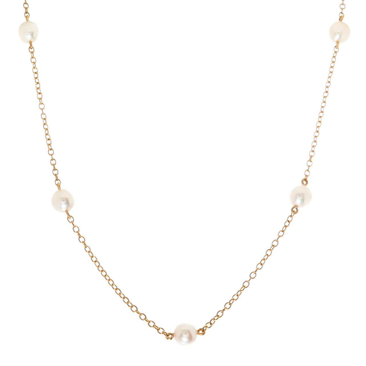 ffd9a89af Tiffany and Co. Elsa Peretti Pearls By the Yard Necklace at 1stdibs