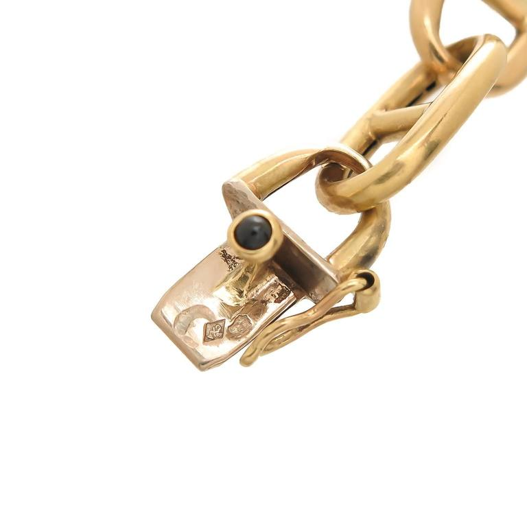 Hermes Yellow Gold Anchor Link Bracelet In Excellent Condition For Sale In Chicago, IL