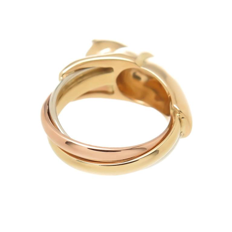 Cartier Tricolor Gold Trinity Panther Ring 2