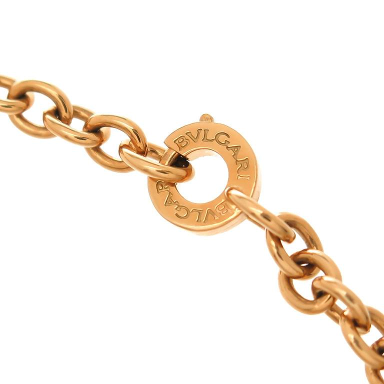 Bulgari Gold Bracelet with Diamond Snowflake Charm 4