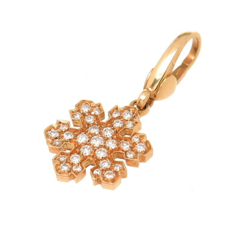 Bulgari Gold Bracelet with Diamond Snowflake Charm 2
