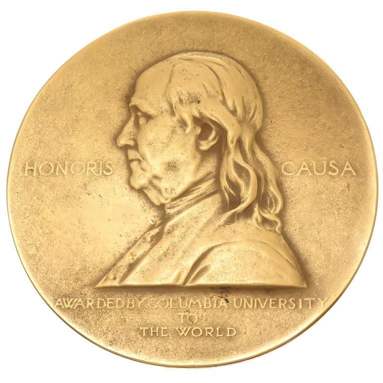 1927 Solid Gold Pulitzer Prize Medal At 1stdibs