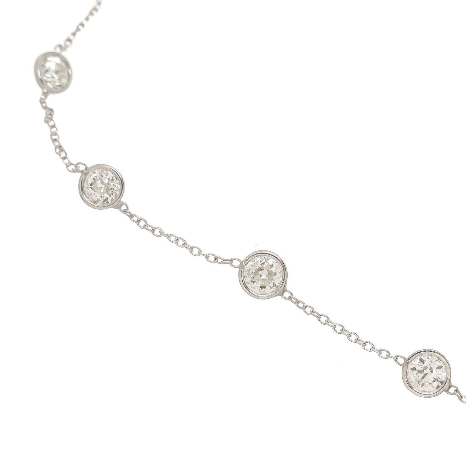 Greek Home Interiors Diamonds By The Yard Platinum Necklace At 1stdibs
