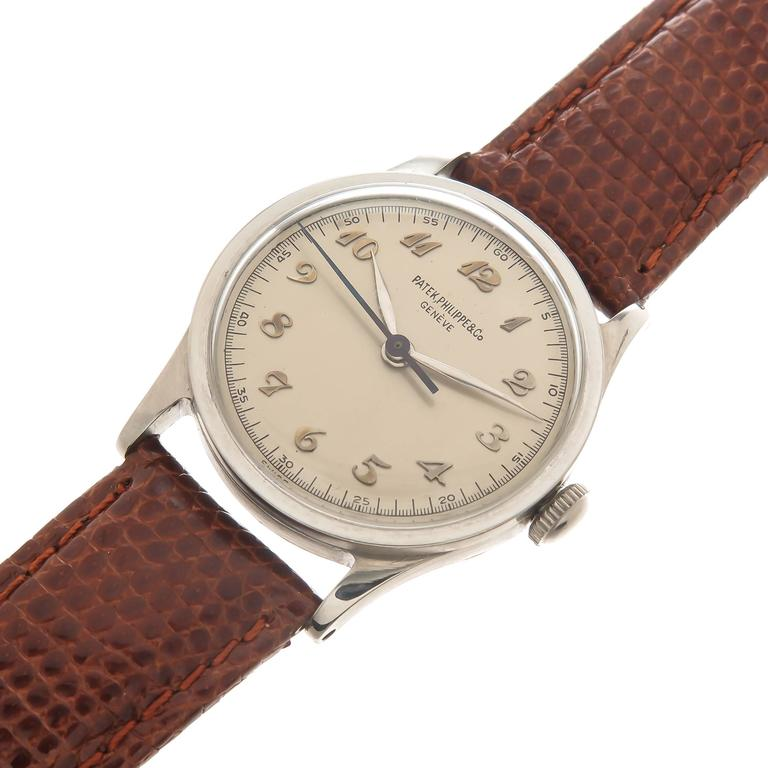8b566a1a02dd Circa 1940s Patek Philippe Reference 96 Calatrava In a 30 MM 3 piece  Stainless Steel Case