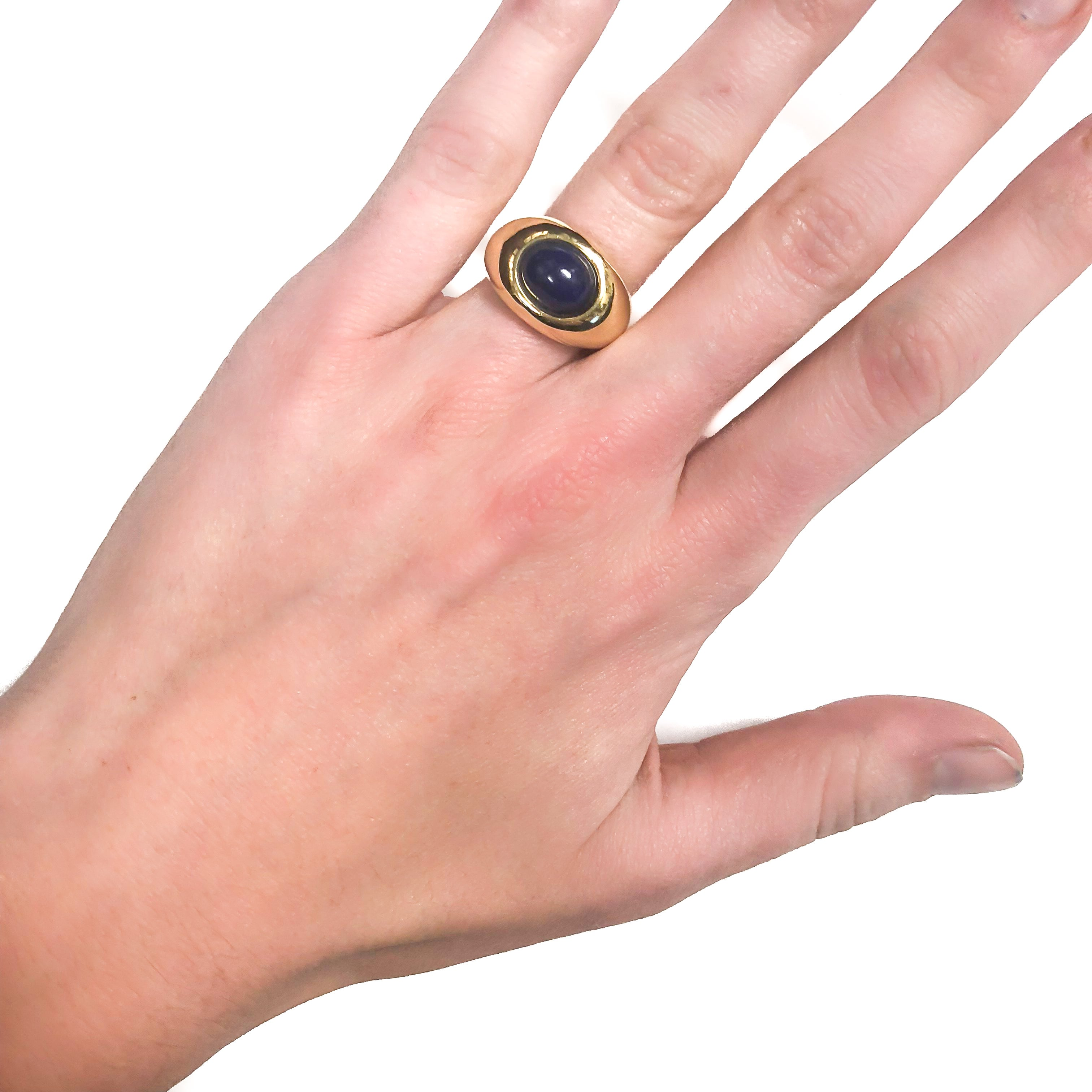Tiffany and Co. Lapis Gold Ring For Sale at 1stdibs