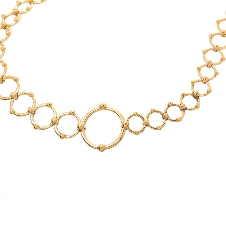 Tiffany & Co. Yellow Gold Long Circles Necklace 2