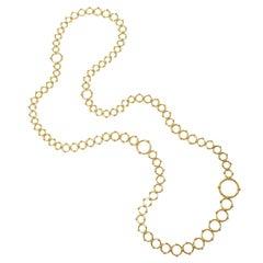 Tiffany & Co. Yellow Gold Long Circles Necklace
