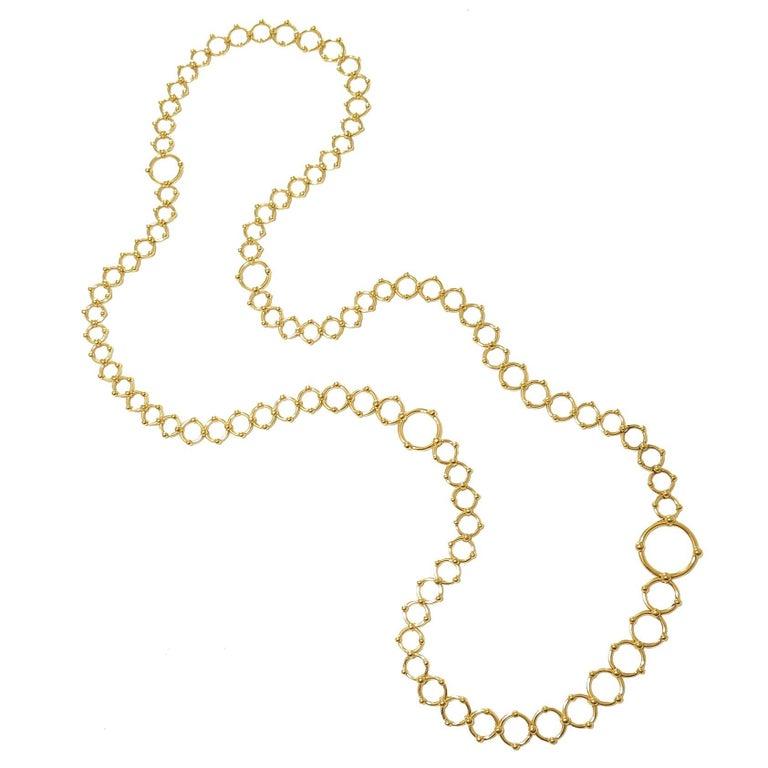 Tiffany & Co. Yellow Gold Long Circles Necklace 1