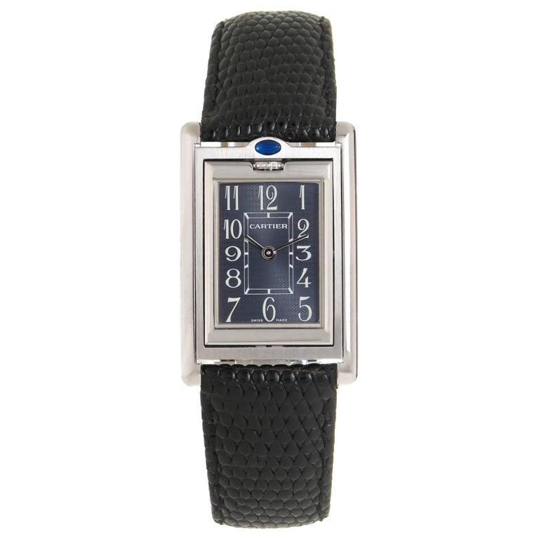 Cartier Stainless Steel Basculante Quartz Wristwatch, circa 2010