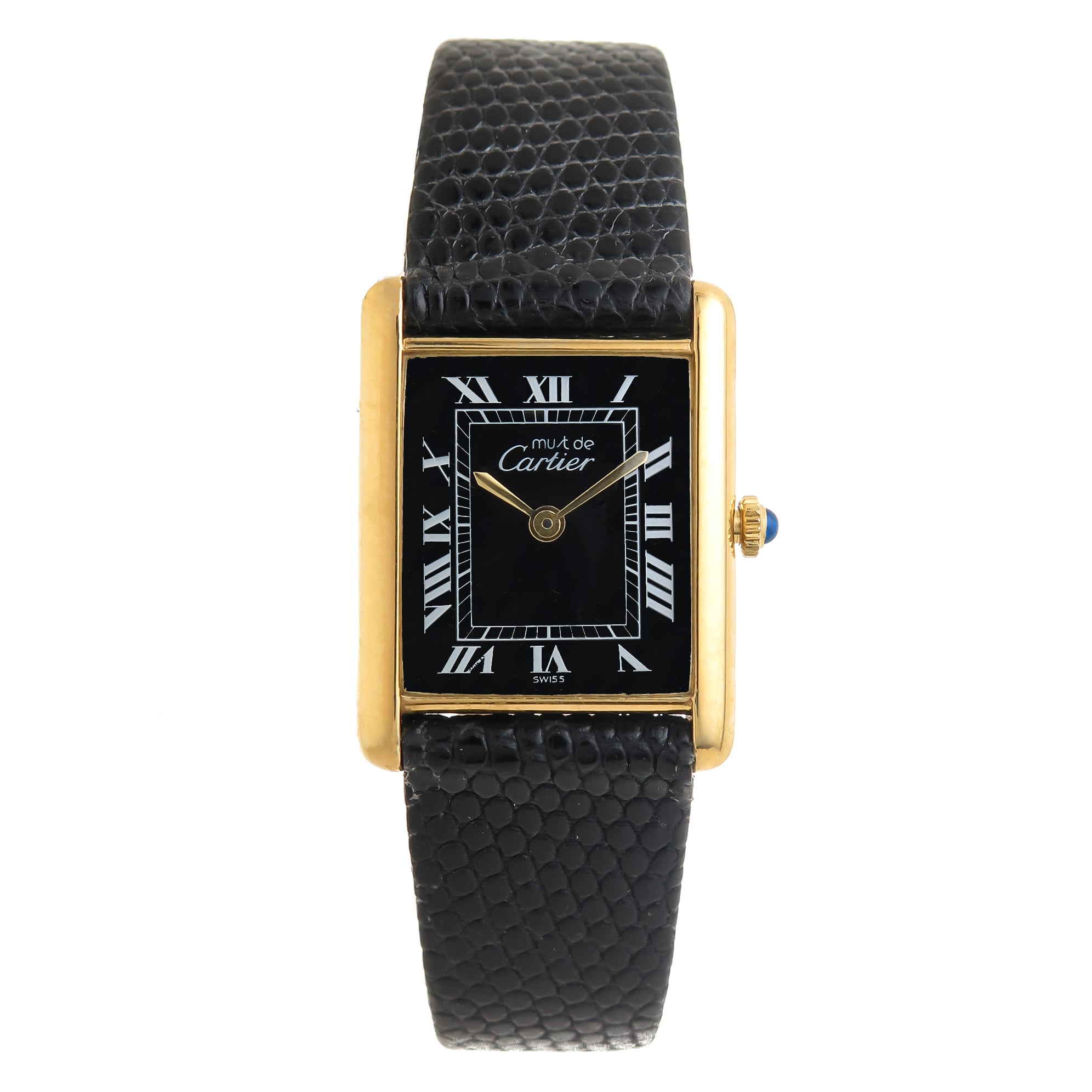 cartier s vintage womens bezel watch tank stepped nyr watches ladies round christie
