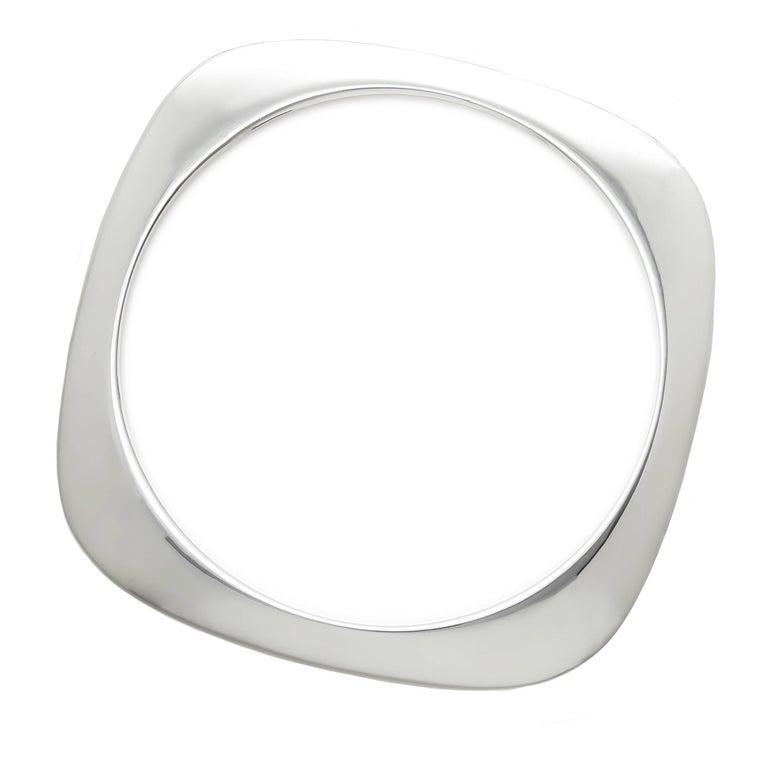 Tiffany & Co. Silver Square Cushion Bangle Bracelet