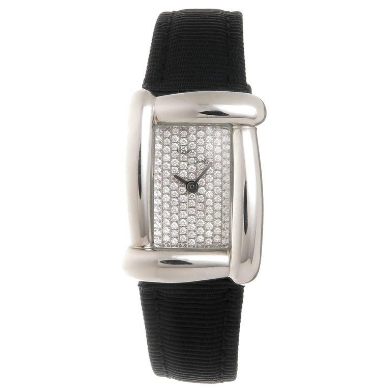 Henry Dunay Ladies Stainless Steel Diamond Medea Quartz Wristwatch