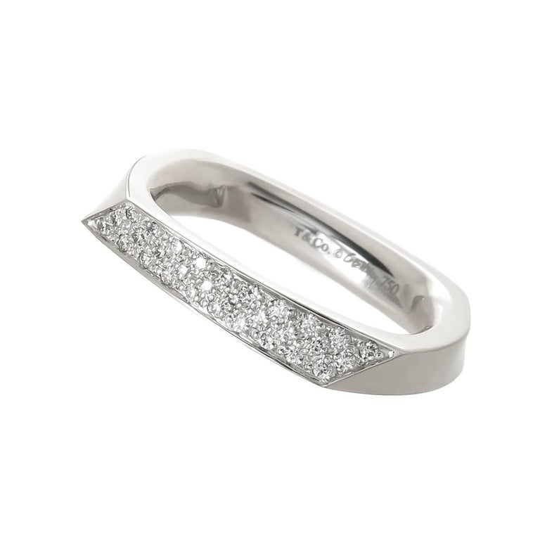 bed6d64d0 Tiffany and Co. Frank Gehry Gold and Diamond Torque Band Ring For ...