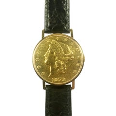 Vacheron Constantin Gold Coin Wristwatch Owned and Worn by Jerry Lewis