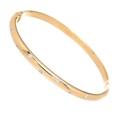 Tiffany & Co. Etoile Diamond gold Platinum Bangle Bracelet