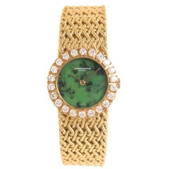 Vacheron Constantin Ladies Yellow Gold Diamond & Jadeite Dial Manual Wristwatch