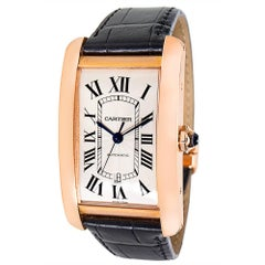 Cartier Tank Americaine W2609856 Men's Watch in 18K Rose Gold