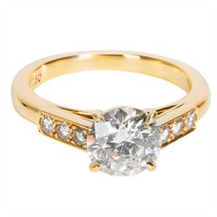 Cartier GIA Certified Diamond Engagement Ring in Yellow Gold (1.69 CTW)