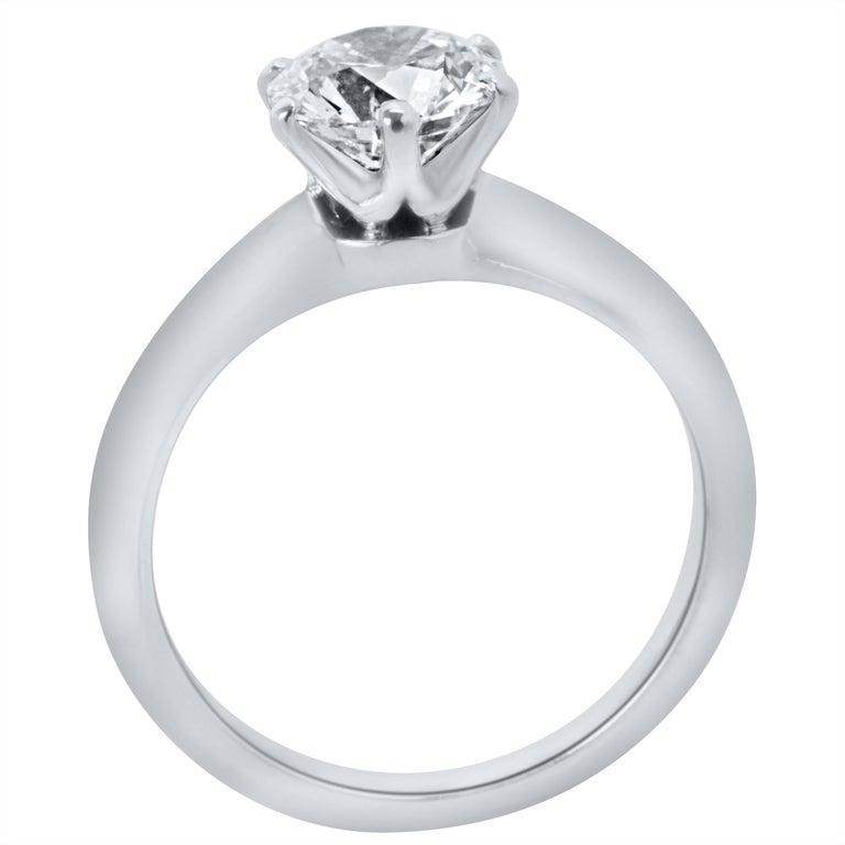 005e14947e7 Round Cut Tiffany   Co. Solitaire Diamond Engagement Ring in Platinum D VVS1  1.04 Carat