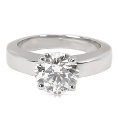 Cartier Diamond Solitaire Engagement Ring in Platinum GIA Certified 1.80 Carat
