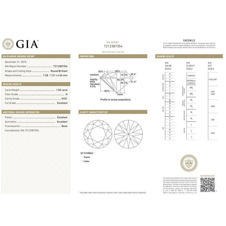 Women's Bulgari Diamond Stud Earrings in 18 Karat Gold GIA Certified H/VVS1 3.02 Carat For Sale