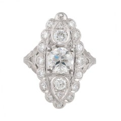 1.20 Carat Diamond Platinum Vintage Ring
