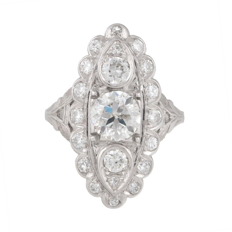1.20 Carat Diamond Platinum Vintage Ring
