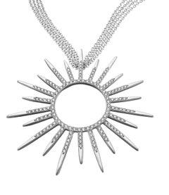 Wendy Brandes Statement Starburst 2 Carat Diamond & White Gold Pendant Necklace