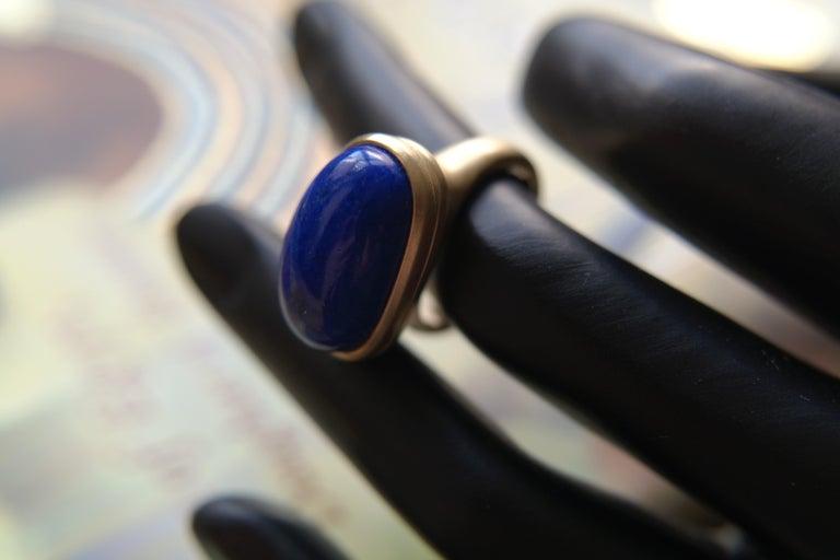 Wendy Brandes ägyptischen mechanische Medaillon / vergiften Lapislazuli 18K Gold Ring-Edi 7